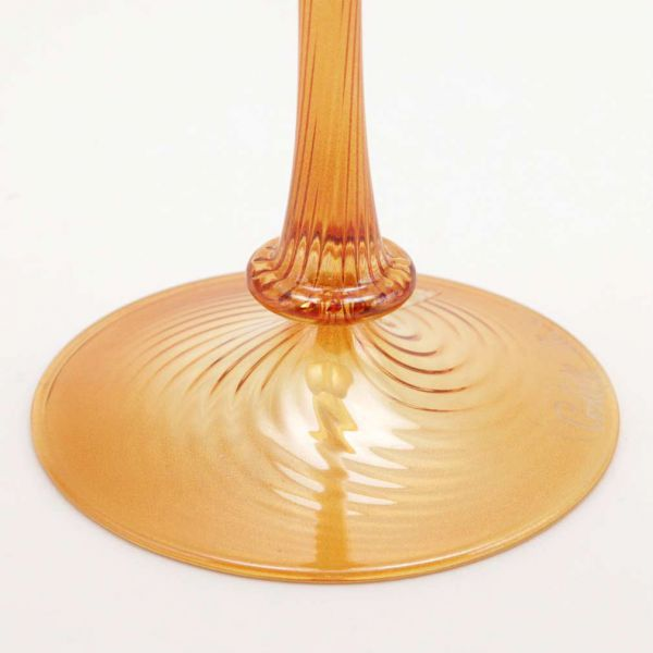 Murano Glass Candle Holder Golden Brown