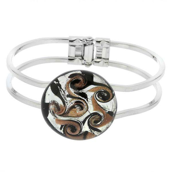 Venetian Reflections Metal Bracelet - Black Silver