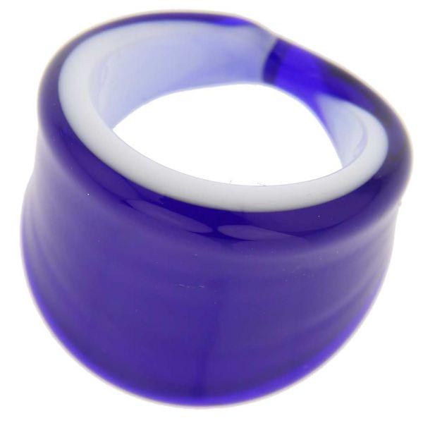 Venetian Contemporary Ring In Flat Design - Blue