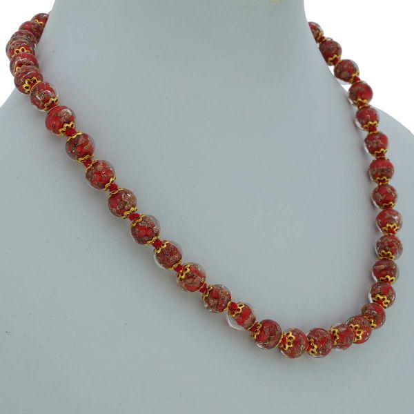 Sommerso Necklace - Red