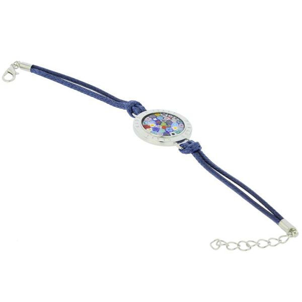 Lauretta Murano Glass Millefiori Bracelet - Blue