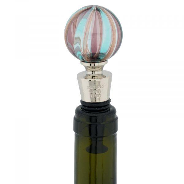 Murano Glass Bottle Stopper - Filigrana