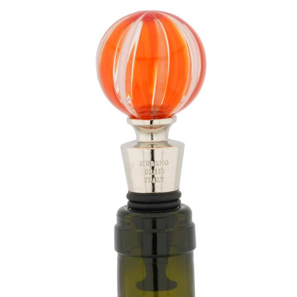 Murano Glass Bottle Stopper - Red