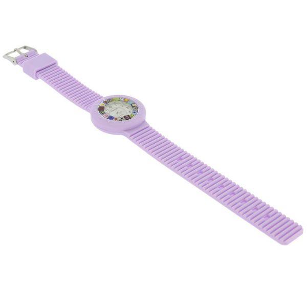 Murano Millefiori Watch with Rubber Band - Lavender