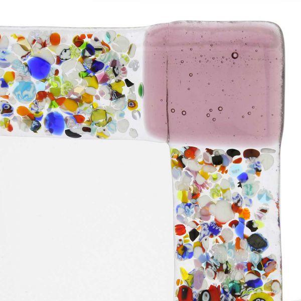 Murano Klimt Photo Frame - Purple Small