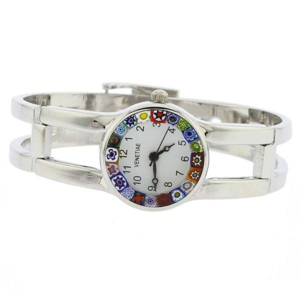Murano Millefiori Watch With Metal Bracelet