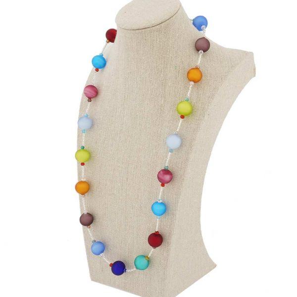 Preziosa Murano Glass Necklace - Gold and Silver Grey