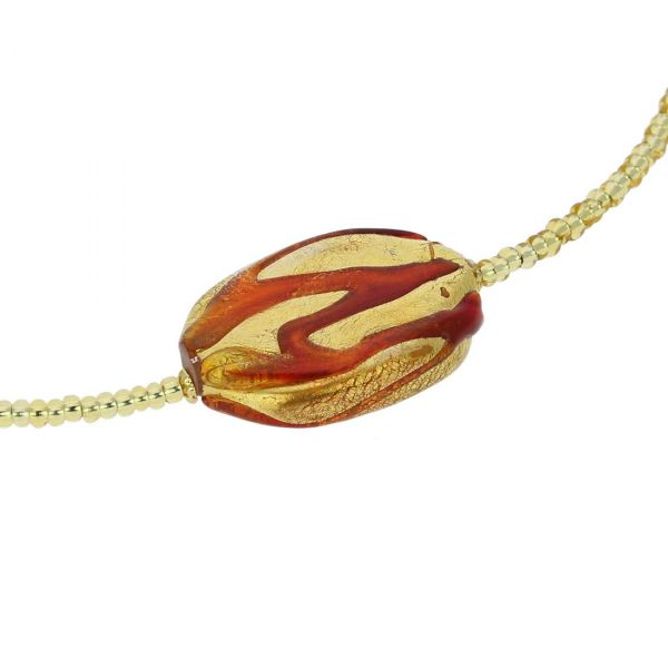 Royal Red Oval Necklace