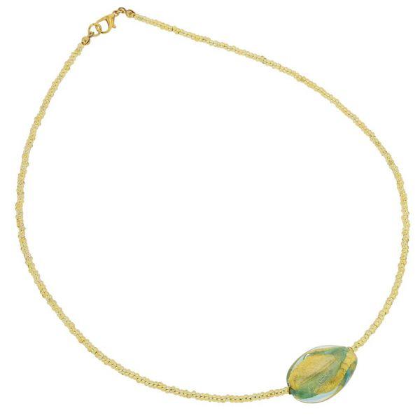 Royal Aqua Spiral Necklace