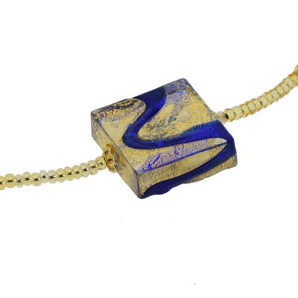 Royal Blue Square Necklace