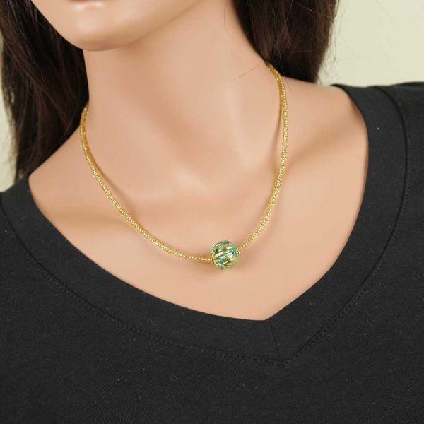 Royal Aqua Ball Necklace