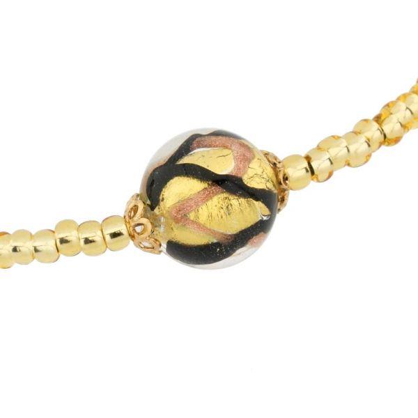Royal Black Ball Necklace