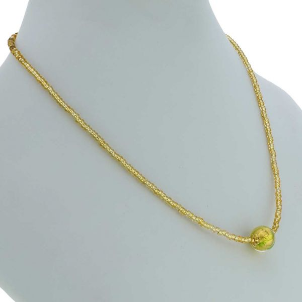 Royal Green Ball Necklace