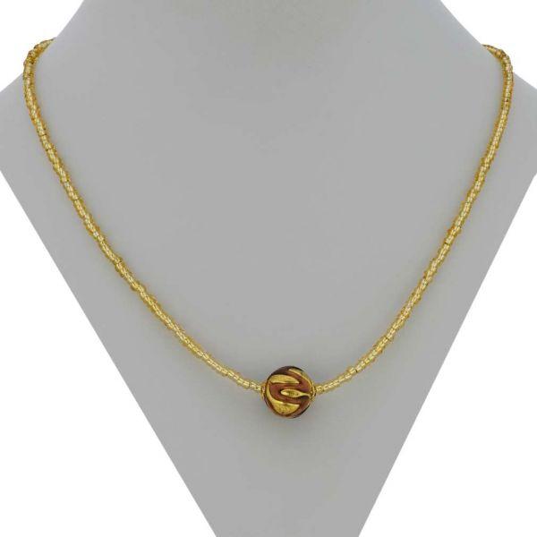 Royal Purple Ball Necklace