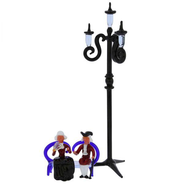 Venetian Couple Under Street Light