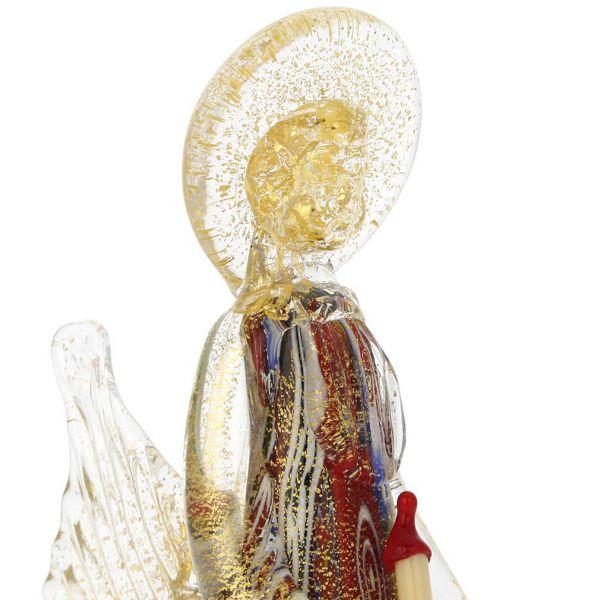 Golden Quilt Millefiori Murano Angel