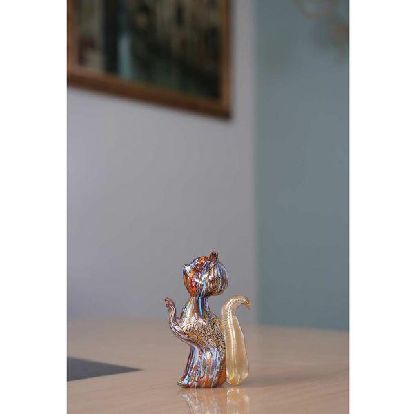 Golden Quilt Millefiori Murano Squirrel