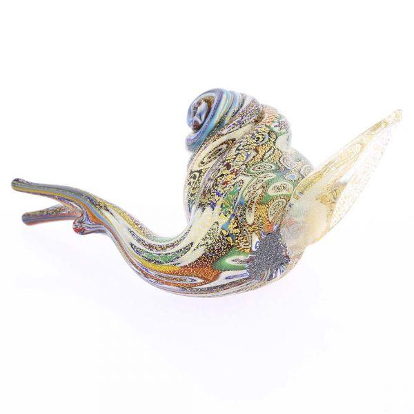 Golden Quilt Millefiori Murano Snail