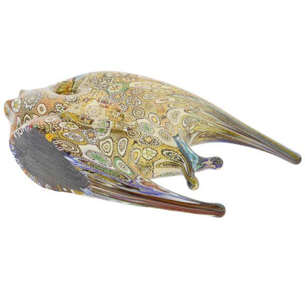 Golden Quilt Millefiori Murano Fish