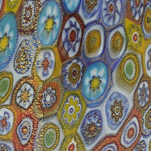Murano Millefiori Bottle Decanter - Multicolor