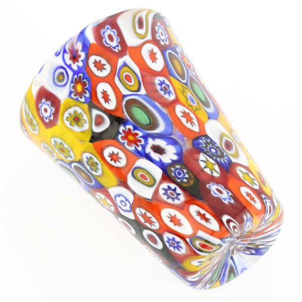 Murano Millefiori Shot Glass - Multicolor