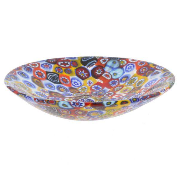 Murano Millefiori Plate - Multicolor