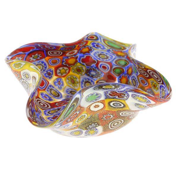 Golden Quilt Millefiori Decorative Bowl