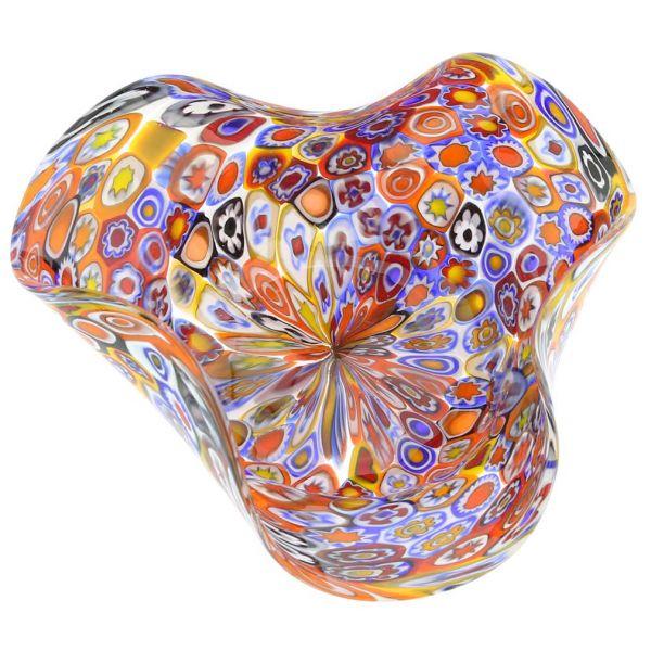 Murano Millefiori Decorative Bowl - Multicolor
