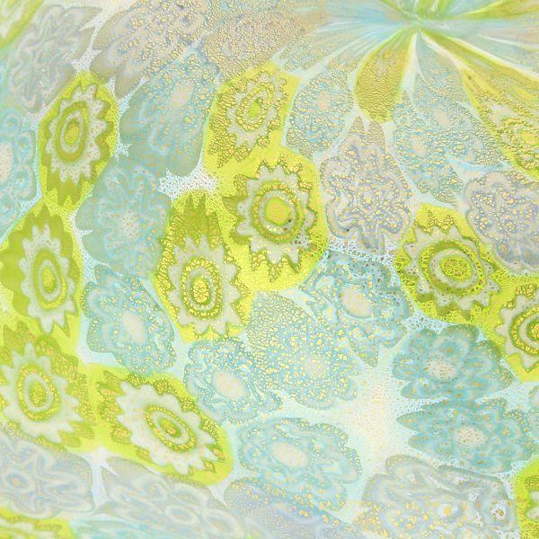 Murano Millefiori Decorative Bowl - Aqua Green