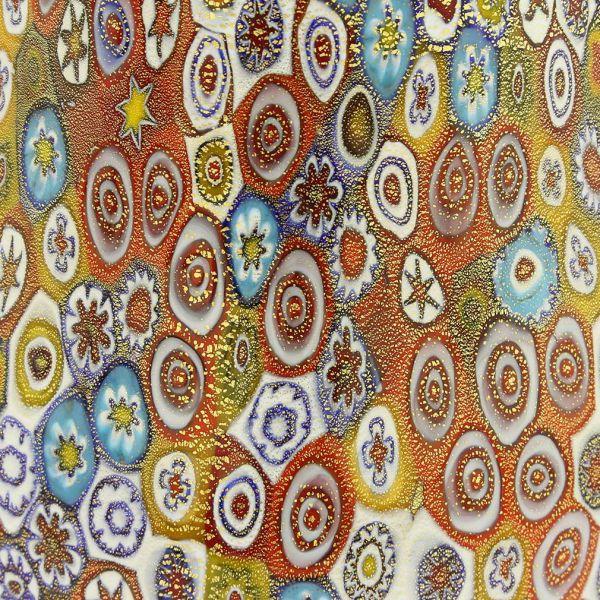 Golden Quilt Millefiori Murano Pitcher / Carafe