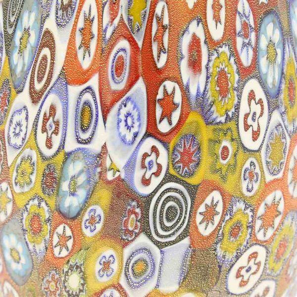Golden Quilt Millefiori Murano Decanter