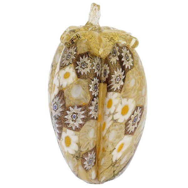 Golden Quilt Murano Millefiori Eggplant