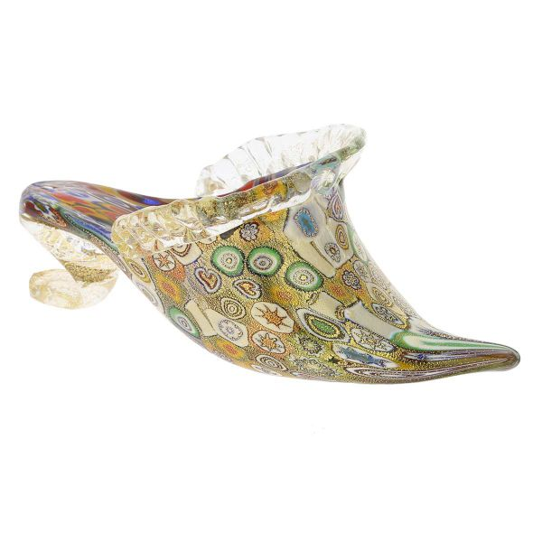 Golden Quilt Millefiori Murano Slipper