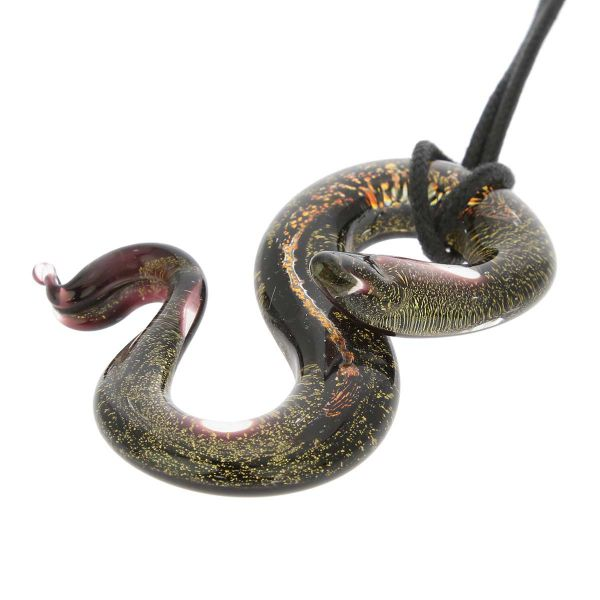 Murano Glass Large Snake Pendant