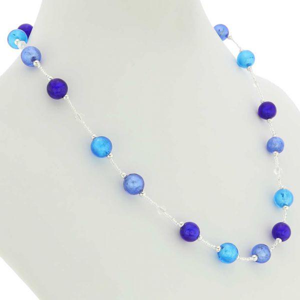 Beatrice Murano Glass Necklace - Blue