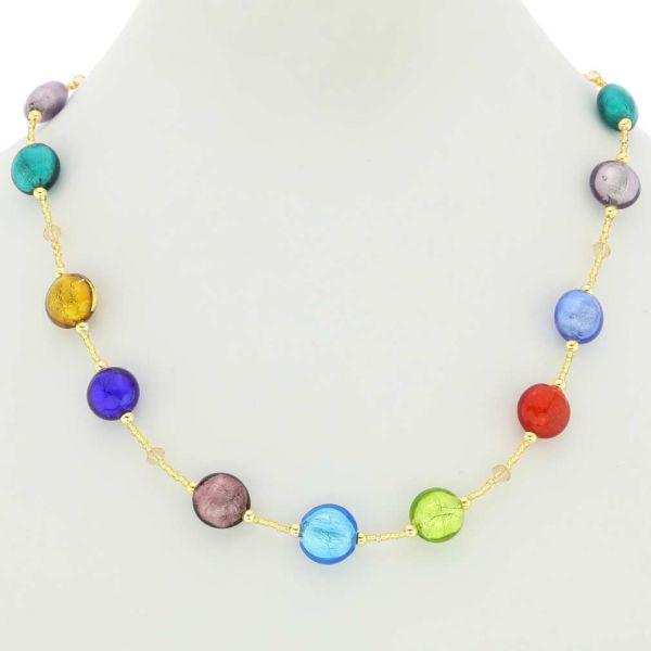 Beatrice Murano Glass Necklace - Multicolor