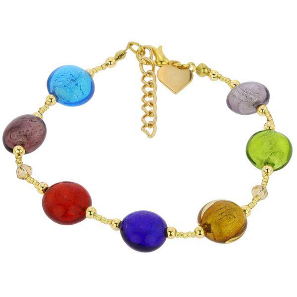 Beatrice Murano Glass Bracelet - Multicolor