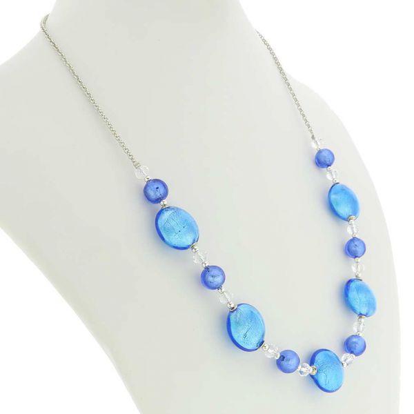 Oceano Murano Glass Necklace - Blue