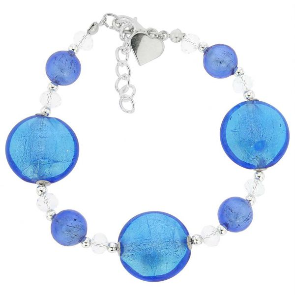 Oceano Murano Glass Bracelet - Blue