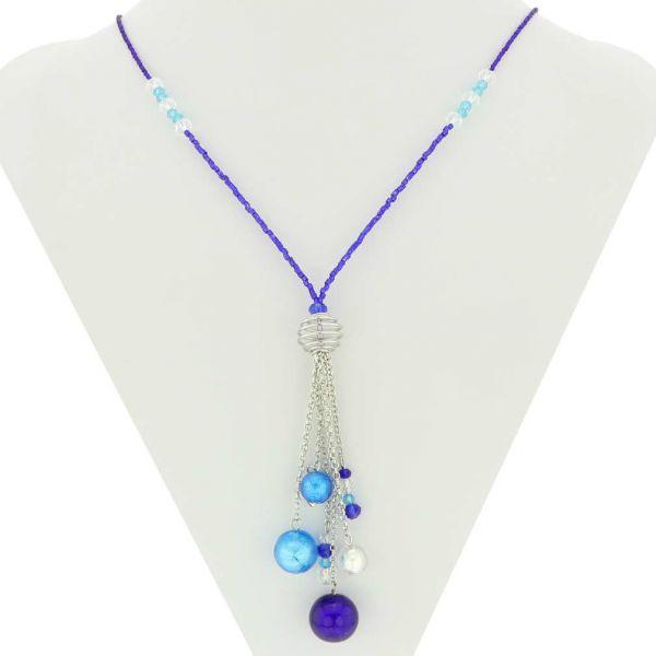 Sorgente Murano Glass Necklace - Blue