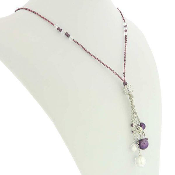 Sorgente Murano Glass Necklace - Purple