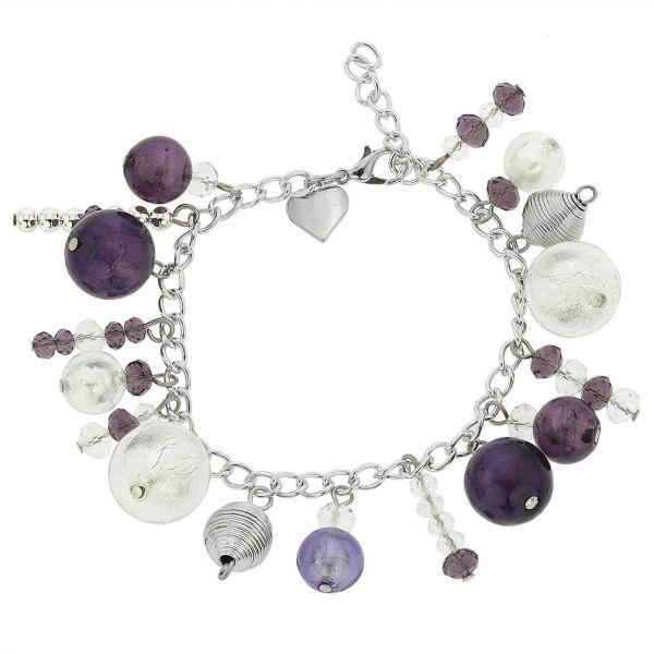 Sorgente Murano Glass Bracelet - Purple