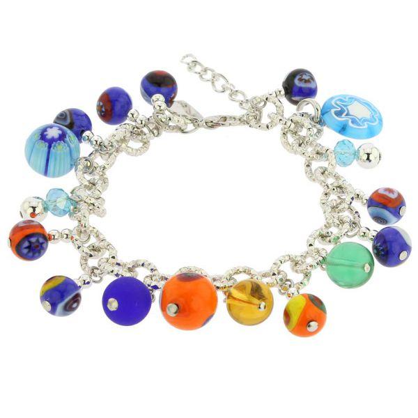 Sorgente Millefiori Murano Glass Bracelet - Multicolor