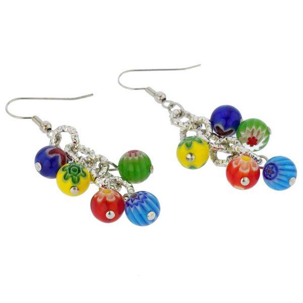 Sorgente Millefiori Murano Glass Earrings - Multicolor
