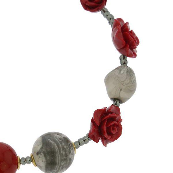 Rosa Di Marmo Murano Glass Bracelet