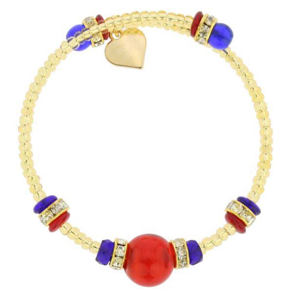 Carino Murano Glass Bracelet - Multicolor