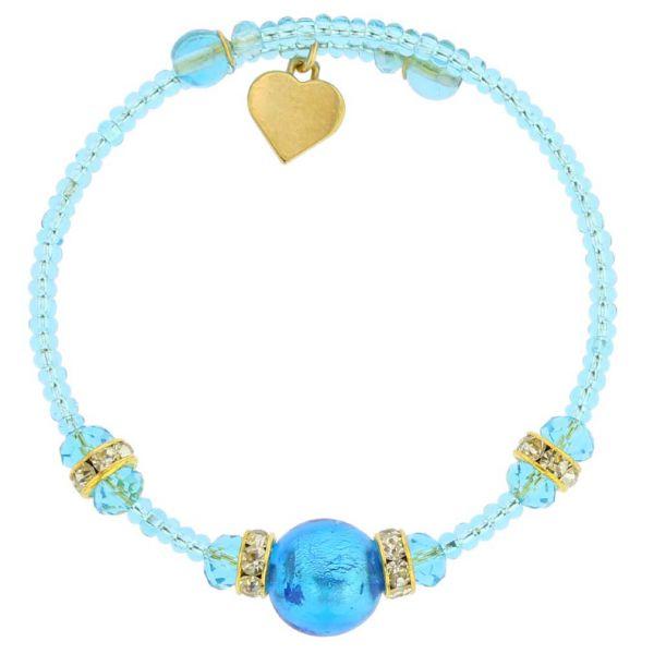 Carino Murano Glass Bracelet - Aqua