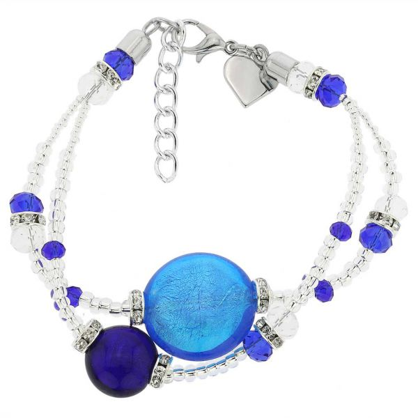 Adelina Murano Glass Bracelet - Blue