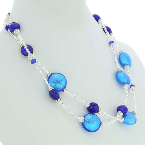 Adelina Murano Glass Necklace - Blue