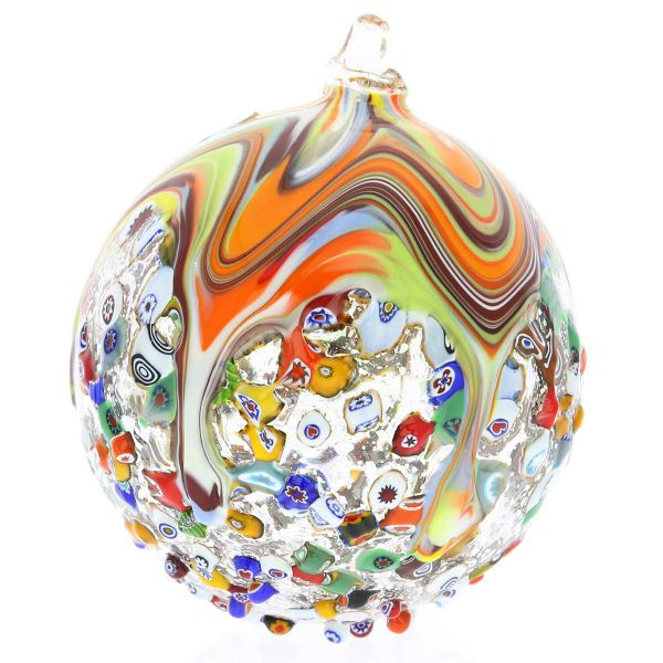 Venetian Mosaic Murano Glass Christmas Ornament